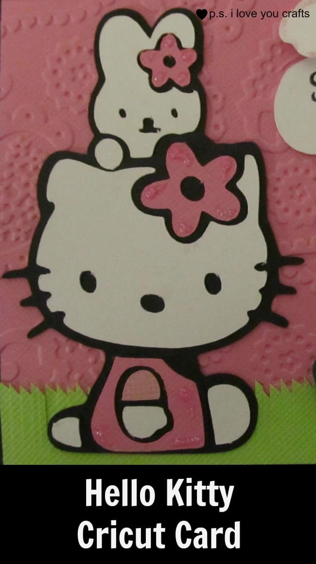 Hello Kitty Cricut Cartridge Spring Card - PS I Love You