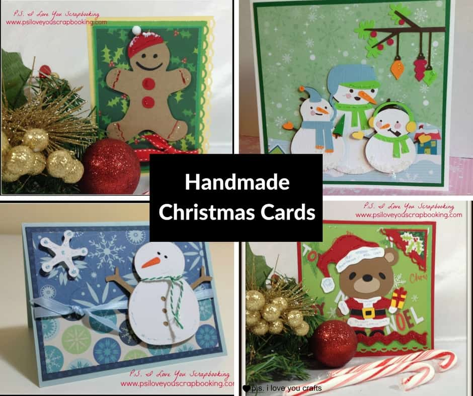 Handmade christmas cards p s i love you crafts for Handcrafted christmas cards