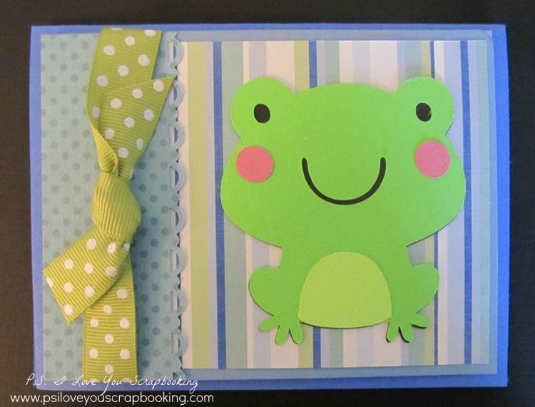Cricut Frog Card Using Create A Critter Cartridge P S I