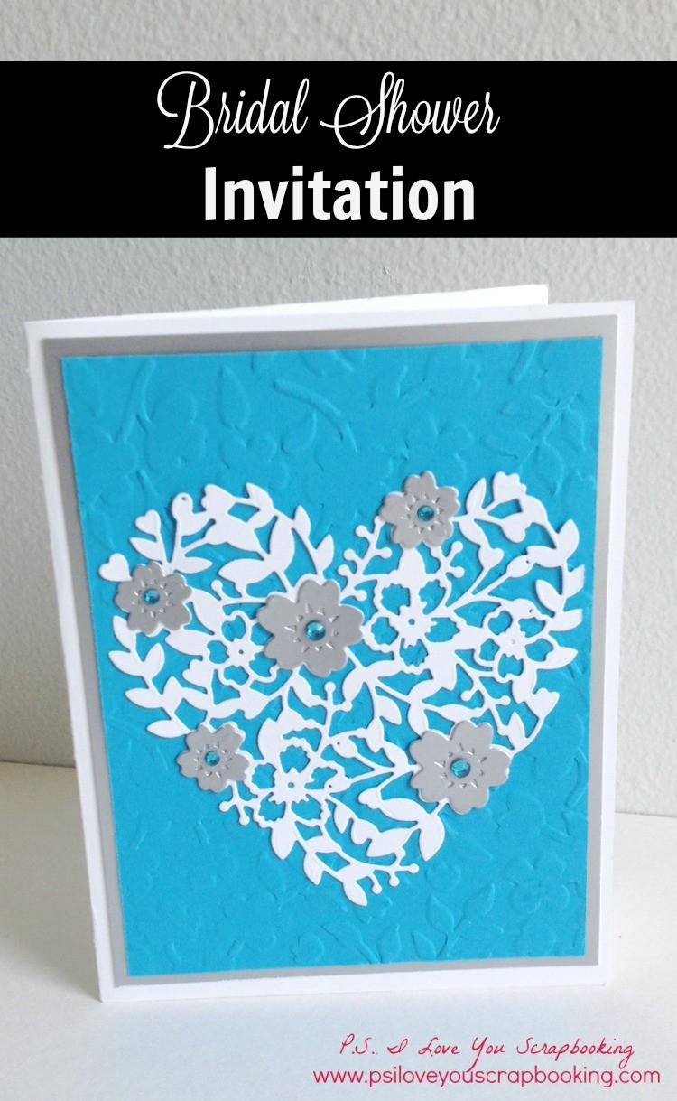 handmade bridal shower invitation