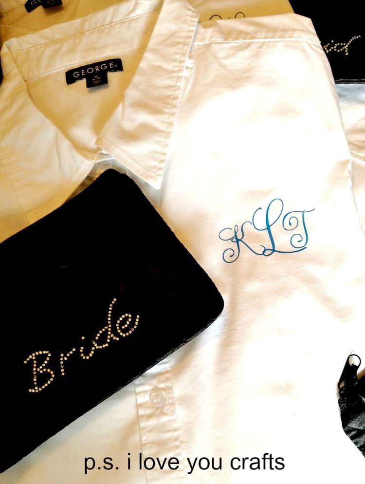 monogrammed shirts using the cricut explore