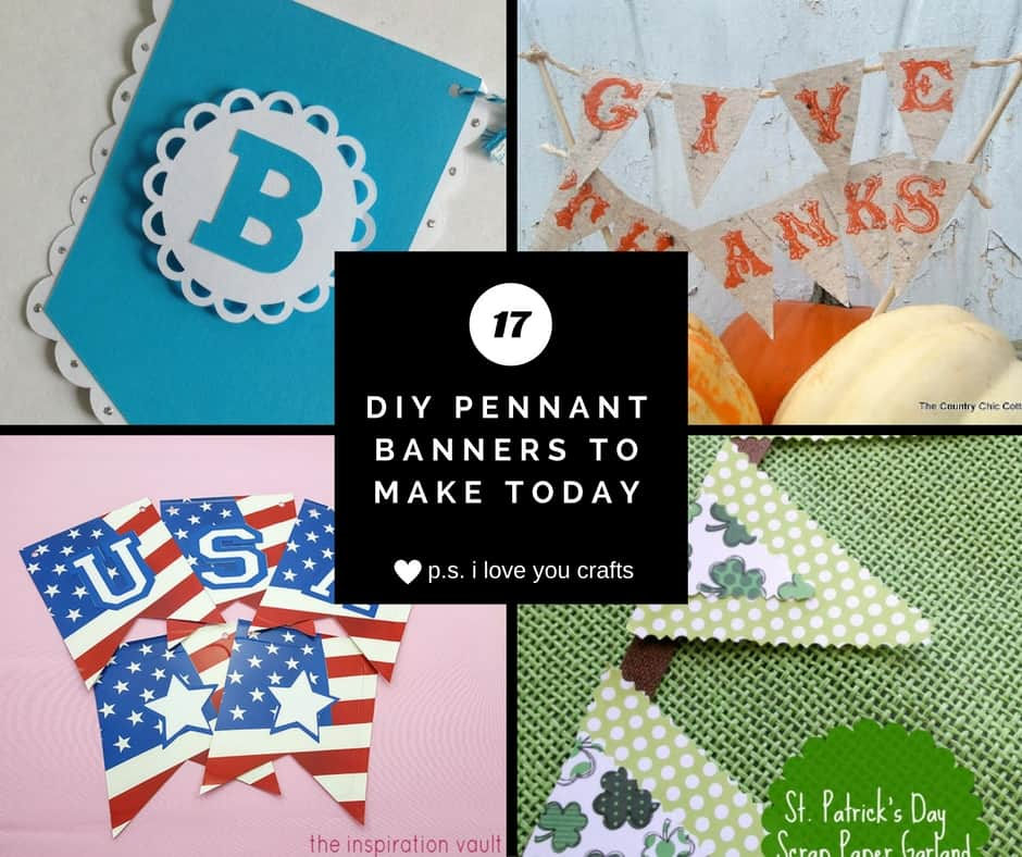 DIY Pennant Banners For Parties And Home Decor